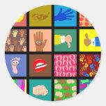 Anatomy Tile Wallpaper Round Stickers