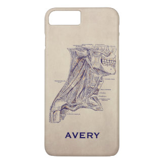 Anatomy VIntage Neck Muscles Old Paper Texture iPhone 7 Plus Case