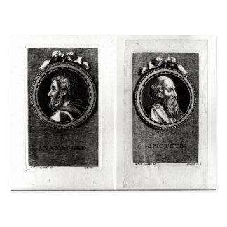 Anaxagorus  and Epictetus Postcard