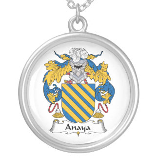 Anaya Family Crest Silver Plated Necklace