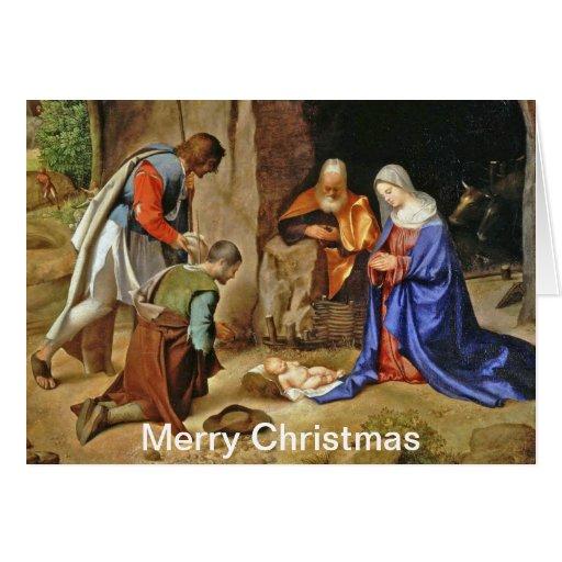 Anbetung der Hirten Christmas Card