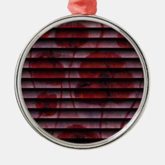 Anca Sofia Decorative Art: Abstract poppies 1 Metal Ornament