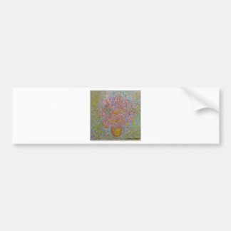 Anca Sofia Decorative Art Blues flowers Bumper Sticker