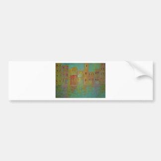 Anca Sofia Decorative Art City sea Bumper Sticker