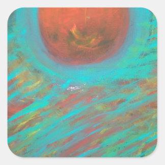 Anca Sofia Decorative Art: Here comes the sun Square Sticker