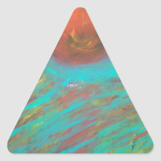 Anca Sofia Decorative Art: Here comes the sun Triangle Sticker