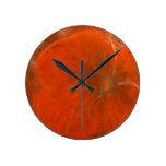 Anca Sofia Decorative Art: Inlove poppy Round Clock