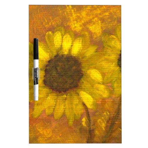 Anca Sofia Decorative Art: Sun flowers Dry Erase Board