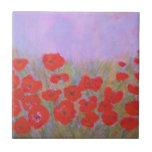 Anca Sofia: Poppies Ceramic Tile