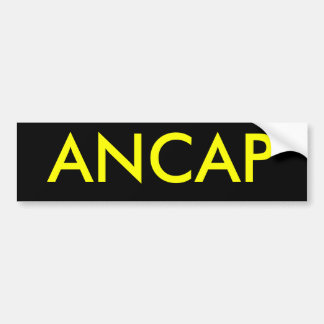 ANCAP BUMPER STICKER
