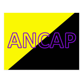 ANCAP Colors & Text Flag Postcard