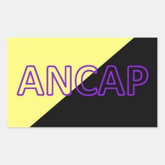 ANCAP Colors & Text Flag Rectangular Sticker