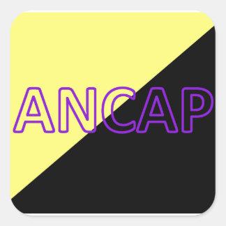 ANCAP Colors & Text Flag Square Sticker