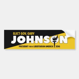 Ancap voluntarista libertario de Gary Johnson 2016 Pegatina Para Auto