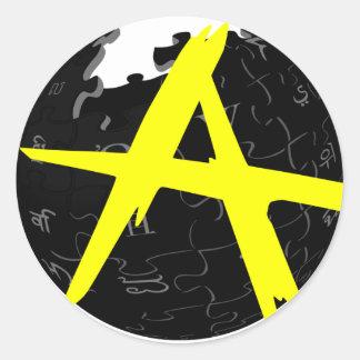 AnCap Wiki Classic Round Sticker