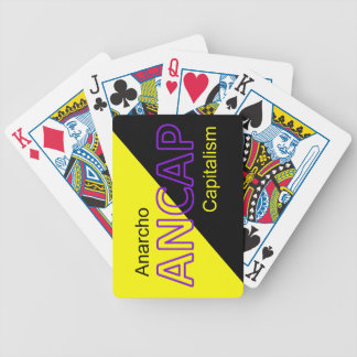 ANCAP Yellow and Black Flag Bicycle Playing Cards