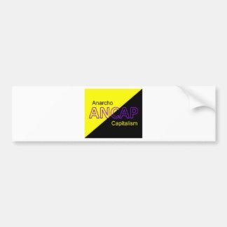 ANCAP Yellow and Black Flag Bumper Sticker