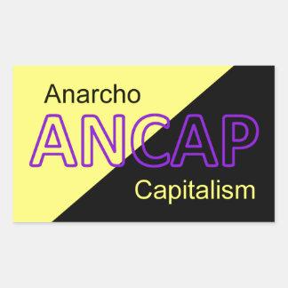 ANCAP Yellow and Black Flag Rectangular Sticker