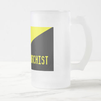 Ancapflag, anarquista, vidrio del mercado taza de cristal