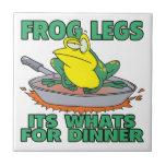ancas de rana sus cuál está para la cena teja