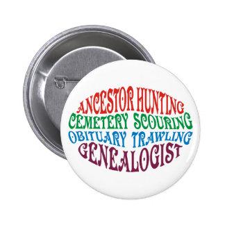 Ancestor Hunting Genealogist 2 Inch Round Button
