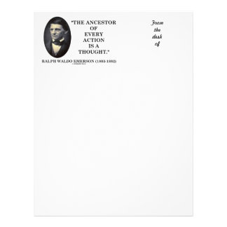 Ancestor Of Every Action Is A Thought (Emerson) Letterhead