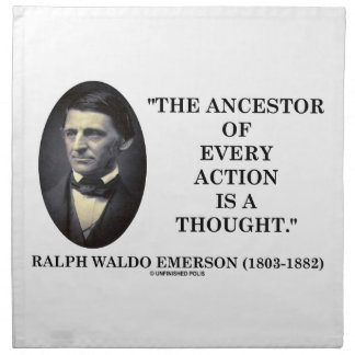 Ancestor Of Every Action Is A Thought (Emerson) Napkin
