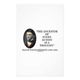 Ancestor Of Every Action Is A Thought (Emerson) Stationery