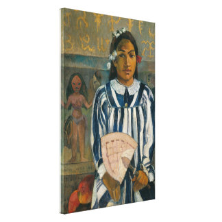 Ancestors of Tehamana by Paul Gauguin Canvas Print