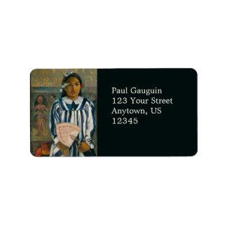 Ancestors of Tehamana by Paul Gauguin Label