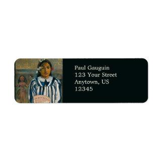 Ancestors of Tehamana by Paul Gauguin Custom Return Address Label