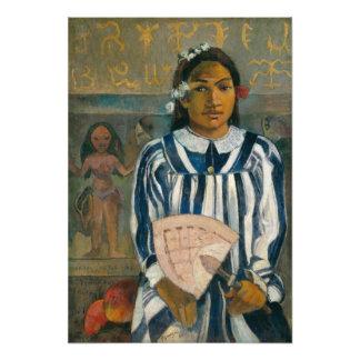 Ancestors of Tehamana by Paul Gauguin Photo Print