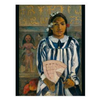 Ancestors of Tehamana by Paul Gauguin Postcard