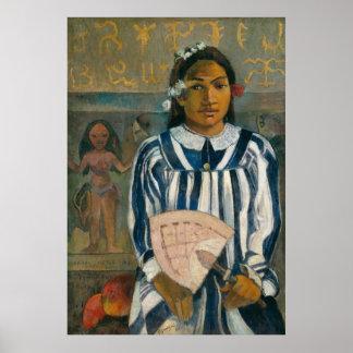 Ancestors of Tehamana by Paul Gauguin Poster