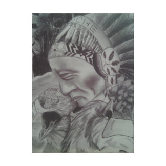 """""""Ancestral Vox"""" Drawing Canvas Print"""