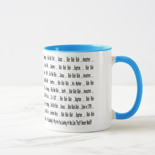 Ancestry Blah Blah Blah Mug