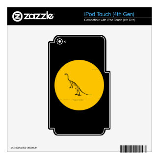 Anchisaurus Colurus Reconstruction Decals For iPod Touch 4G