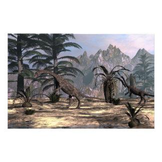 Anchisaurus dinosaurs - 3D render Stationery