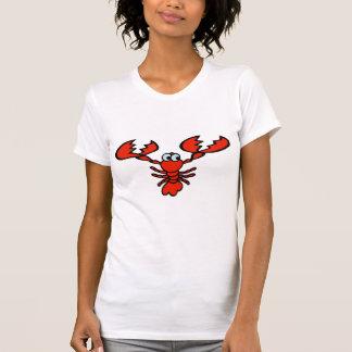 Ancho grande de los cangrejos camisetas