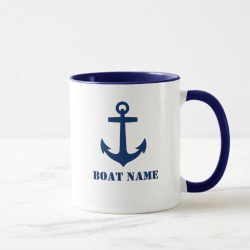 Anchor Add Boat Name Mug aa0a