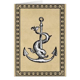 Anchor and Dolphin - Festina Lente Card
