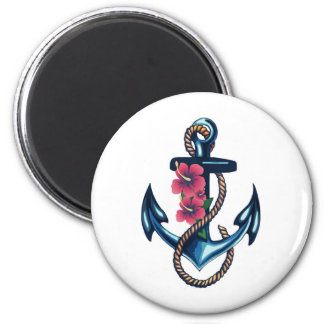 Anchor and Flowers Magnet
