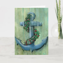 Anchor and Garland Christmas Card