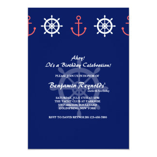 Anchor and Helm Invitation