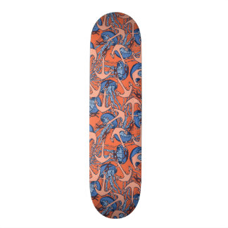 Anchor And Jellyfish Pattern Skateboard