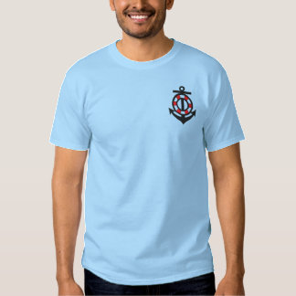 Anchor and Life Preserver Embroidered T-Shirt