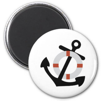 anchor and lifesaver 2 inch round magnet