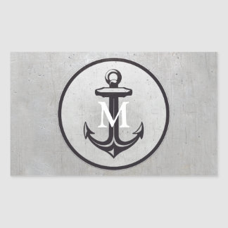 Anchor and Monogram | Nautical Gifts Rectangular Sticker