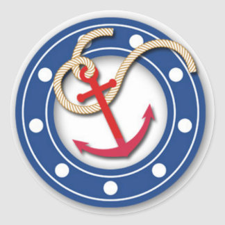 Anchor and Porthole Classic Round Sticker