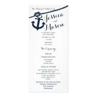 Anchor and Rope Wedding Program